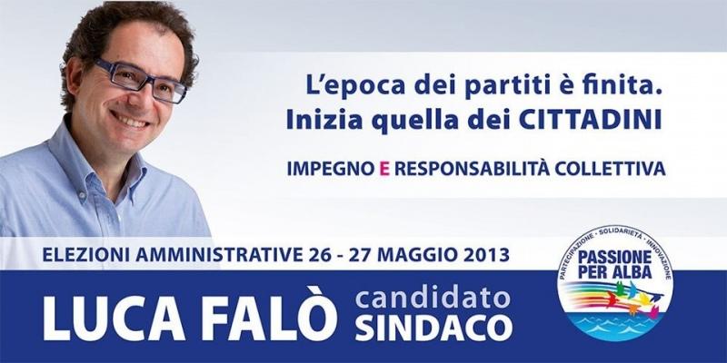 Luca Falò è il candidato sindaco del gruppo civico Passione per Alba. Presentato sabato
