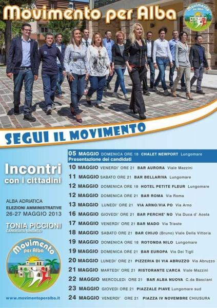 Grande partecipazione alla presentazione del gruppo Movimento Per Alba con Tonia Piccioni